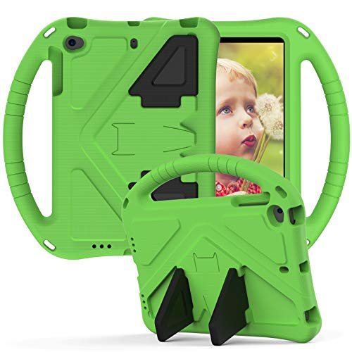 ZHIWEI Tablet PC Bolsas Bandolera para iPad Mini 1 2 3 4 5 Case, para niños EVA a Prueba de Golpes, a Prueba de Golpes, conjuntamente, con Mango Grande, Caja Protectora Robusta. (Color : Green)
