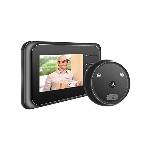 Judas de porte numérique vidéo R11 haute résolution IR Vision nocturne Smart Cat's Eye Home Sonnette électronique 2,4' Caméra antivol Miroir de porte
