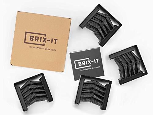 brix-it Fahrrad Wandhalterung Fahrradhalter für alle Reifenbreiten (4 Stück)