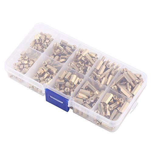 Separadores de latón M3 Hex Male-Female Standoff 300pcs DIY Mujer-Mujer Juego de separadores de placa base