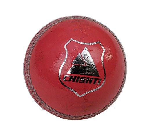 Chishti Cricket-Bälle, Leder, handgenäht, für Senioren, hochwertig, Gewicht 155 g, Rosa, 6 Stück