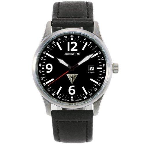 Junkers Herren-Armbanduhr XL Analog Automatik Leder 6272-2