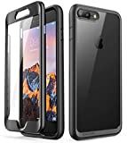 SUPCASE [Unicorn Beetle Style Series] Case for iPhone 8 Plus, Clear Full-Body Rugged Bumper Case with Built-in Screen Protector for iPhone 8 Plus & iPhone 7 Plus (Black)