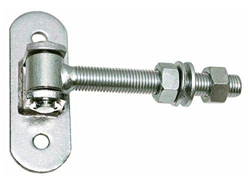 2 bisagras ajustables para puerta M16 con chapa atornillable galvanizada.