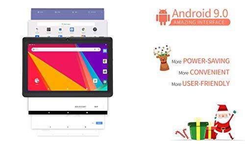 JINYJIA 7 Pouces Tablette Tactile - Google Android 9.0 GMS HD Tablet PC avec étui Translucide en Gel de Silicone, Quad Core 1Go RAM 16Go ROM, WiFi, Bluetooth, Noir