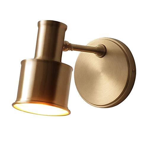 ChangHua1 Lámpara de Pared de latón, Aplique de Pared Ajustable, iluminación, decoración de Arte para habitación montada en la Pared Linterna de Pared Moderna para la cabecera del Dormitorio, Pasillo