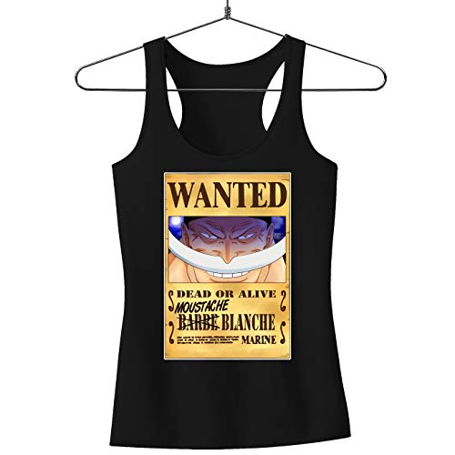 Débardeur Femme Noir One Piece parodique Edward Newgate - Barbe Blanche : Le Wanted Secret. : (Parodie One Piece)