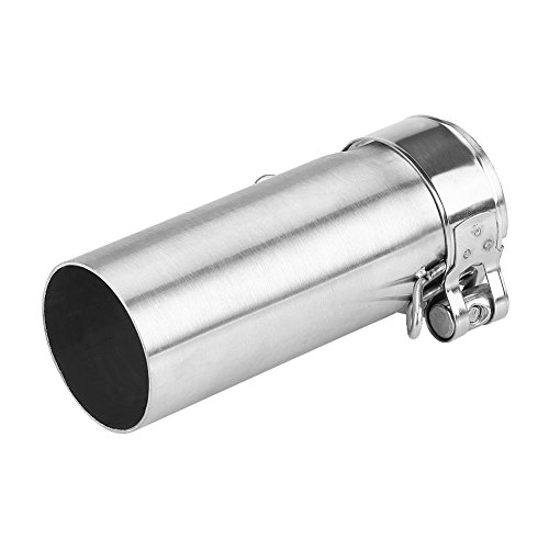 Qiilu Motorcycle Middle Link Pipe 51mm Stainless Steel Slip On Exhaust Mid-Pipe Adapter Connector for Yamaha YZF-R6 2006-2014