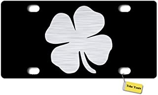 Tobe Yours License Plate Cover St. Patricks Shamrock 4-Leaf Clover Printed Auto Truck Car Front Tag Personalized Metal License Plate Frame Cover 6