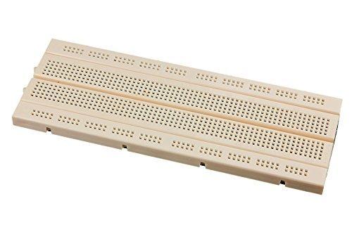 Small Breadboard with 600 Tie Points in White Color, Mini Bread Board Self Adhesive For Arduino Proto Shield
