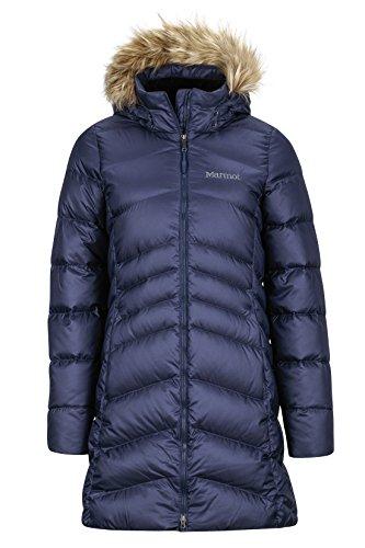 Marmot Damen Leichte Daunenjacke, 700 Fill-power, Warmer Parka, Wintermantel, Wasserabweisend, Winddicht Wm's Montreal Coat, Midnight Navy, M, 78570
