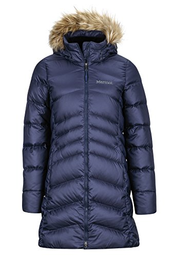 Marmot Damen Wm's Montreal Coat Leichte Daunenjacke, 700 Fill-Power, warmer Parka, Wintermantel, wasserabweisend, winddicht, Midnight Navy, M