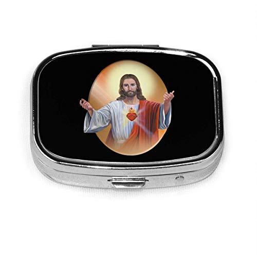 Heiliges Herz Jesu Bilder Benutzerdefinierte Box Pill Case/Pill Box/Square Pill Case