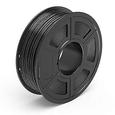 TECBEARS PETG 3D Printer Filament 1.75mm Black, Dimensional Accuracy +/- 0.02 mm, 1 Kg Spool, Pack of 1
