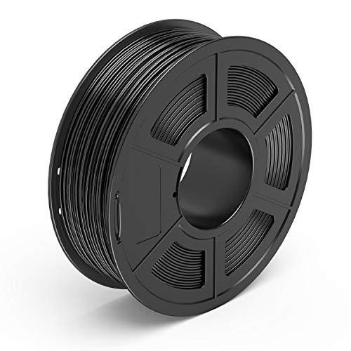 TECBEARS PETG Imprimante 3D Filament 1.75mm Noir, Précision Dimensionnelle +/- 0.02 mm, 1kg Spool, 1 Pack