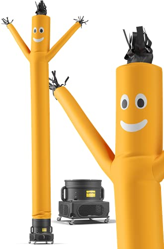 LookOurWay Air Dancers Inflatable Tube Man Set / 20 ft Waving Inflatable Tube Guy with 1 HP Blower for Stand Out Advertising (Yellow)