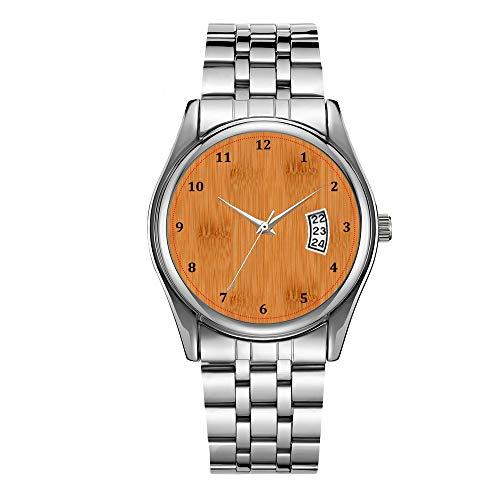 Luxus Herrenuhr 30m Wasserdicht Datum Uhr Männlich Sportuhren Männer Quarz Casual Weihnachten Armbanduhr Bambus Toast Holzmaserung Look Armbanduhr