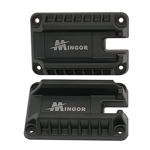 Mingor Gun Magnet Mount, Concealed Magnetic Gun Mount & Holster for Vehicle Home or Office, Sturdy Handgun Holder Quick Release Lock and Load