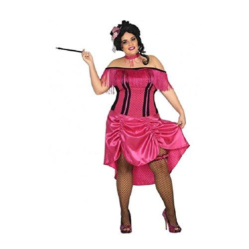 Atosa-31485 Disfraz mujer cabaret, color rosa, XXL (31485)