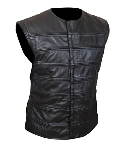 F&H Men's Planet of The Apes Gorilla Soldier Warrior Genuine Leather Vest 2XL Black