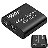 VIBOTON Video HDMI Capture Card with Loop Out, 4K HD 1080P 60FPS USB