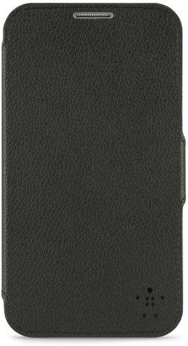 Belkin Leder Snap Foliomit Standfunktion (geeignet für Samsung Galaxy Note 2) schwarz