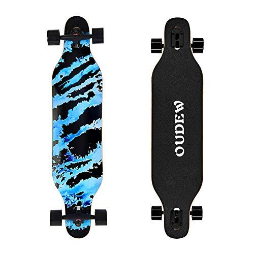 OUDEW Longboard Skateboard, 41 Inch 8 Layer Canadian Maple Drop Through Longboards for Kids Boys...