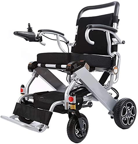 La sedia a rotelle elettrica può salire a bordo della batteria del litio del piano Smart Light pieghevole sedia a rotelle elettrica anziani scooter disabilitato,Argento