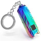 Mini Flashlight Keychain with Micro USB Rechargeable Tiny Flashlight,150 Lumen USB Rechargeable Small Pocket LED Torch Flashlight