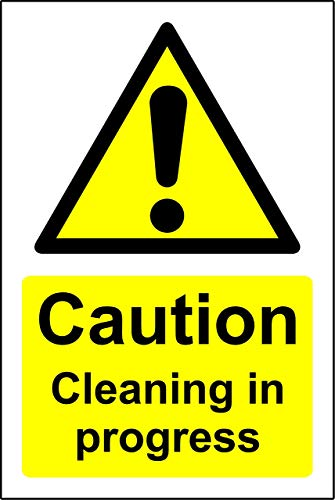 Vintage Look Reproduction 12x16Inch,Caution Cleaning in Progress,Iron Poster Painting Tin Sign Vintage Wall Decor for Cafe Bar Pub Home Beer Decoration Crafts Retro Vintage Sign