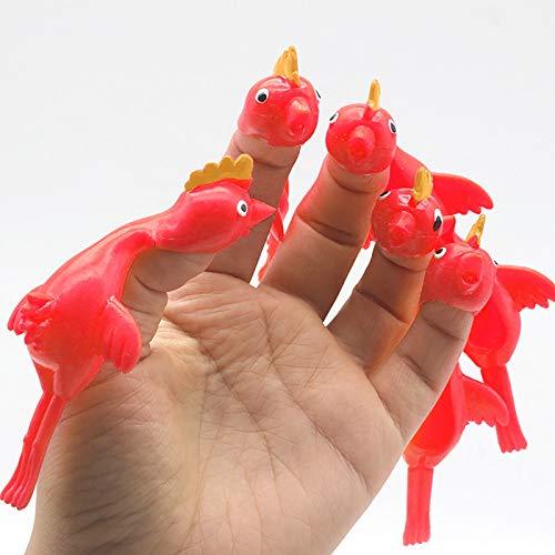 Younoo Sticky Flying Rubber Huhn Stretchy Truthahn Finger Slingshot, Katapult Truthahn Spielzeug, Flick Chicken Office Streich Spielzeug Easter Chicks Neuheit Geschenke Für Kinder Teenager (26PCS)