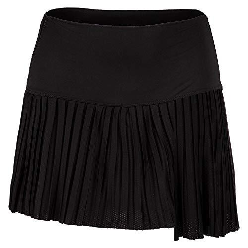 Lucky In Love Women`s Hi-Chop Pleated Tennis Skort (Medium Black)