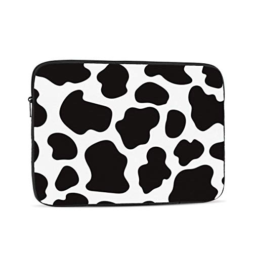 Cow Print Laptop Sleeve Bag Compatible with iPad, MacBook Pro, MacBook Air, Notebook Computer, Water Repellent Polyester Protective Case Cover 13 inch