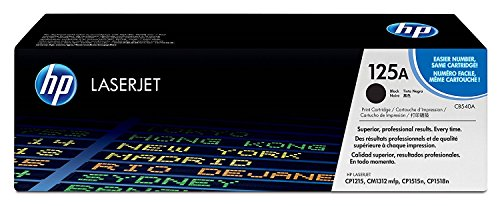 HP 125A (CB540A) Black Toner Cartridge for HP Color LaserJet CP1215 CP1515 CP1518 CM1312