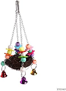 Basket Plastic - Natural Rattan Nest Bird Swing Toy With Bells Cage Perch Stand Parakeet Cockatiel Y110 - Toys Nine-year-olds Years Kids Boys Dolls Girls Swing 11-year-olds Dead Living 10-year