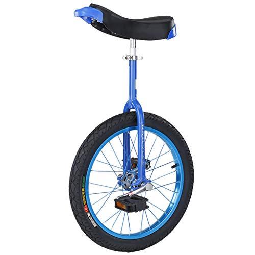 ZSH-dlc Freestyle Einrad 16/18/20/24 Zoll Einzelrad Kinder Erwachsene Höhenverstellbar Balance Radfahren Fahrrad, Bester Geburtstag, Blau (Size : 24 inch)
