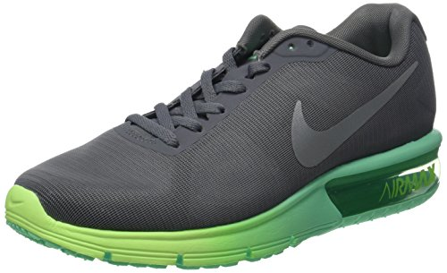 Nike Damen WMNS Air Max Sequent Laufschuhe, Grau (Cool Grau/Metallic Silber/Geisterhaftes Grün/Grünes Glühen), 39 EU