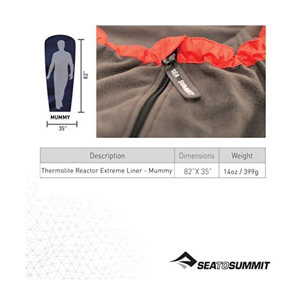 Sea To Summit Thermolite Reactor Extreme - Sábana para saco de dormir, color rojo, talla 90 x 210 cm 2