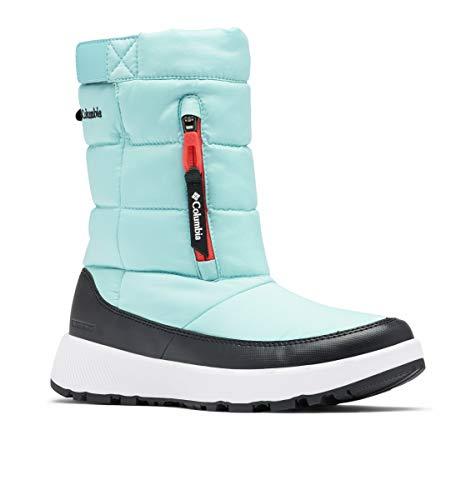 Columbia Women's PANINARO Omni-Heat Pull ON Snow Boot, Aquatint/Poppy Red, 9