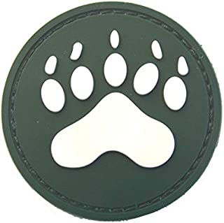 Morton Home Bear Claw Patch | Airsoft Paintball Tactical Military Rubber Badges PVC Rubber 3D Morale (Green)