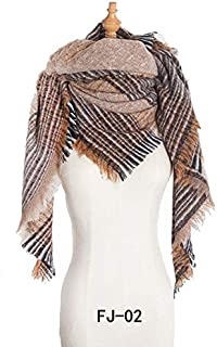 PANFU-AU Scarf Ladies Increase Thick Fashion Keep Warm Shawl Europe And America Autumn Winter Large Square Scarf