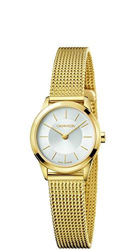 Calvin Klein Damen Analog Quarz Uhr mit Edelstahl Armband K3M23526
