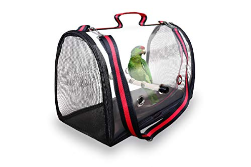Moloni Bird Carrier Parrot Travel Cage Lightweight and Portable Pets Birds Travel and Red Vision Bird Cage