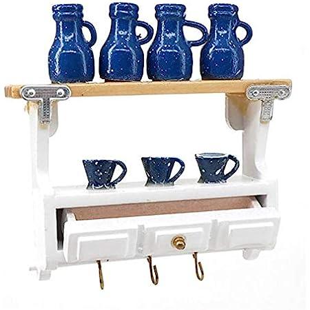Dollhouse mini kitchen wooden wall shelf 1:12 doll house decorative accessoriesJ