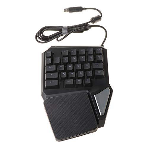 Yintiod Delux T9 Pro Tastatur Einhand-Tastatur mit mechanischem Gefühl und Gaming-Tastatur für PUBG