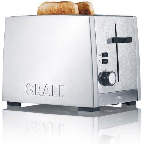 Graef Toaster TO 80, Edelstahl, silberŸ