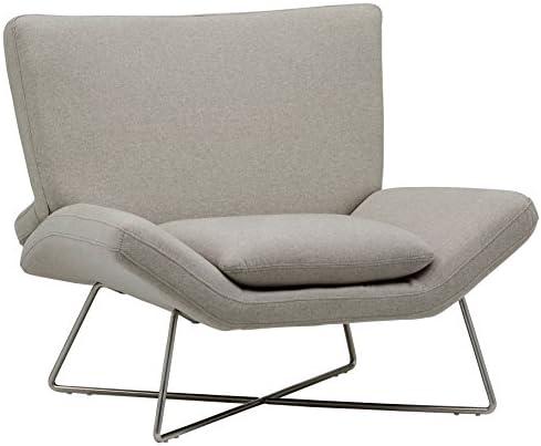 Best Amazon Brand – Rivet Farr Lotus Accent Chair, Felt Grey