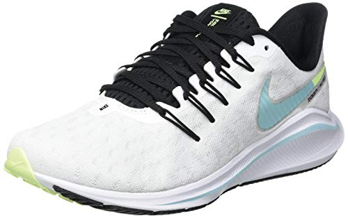 Nike Air Zoom Vomero 14, Running Shoe Mujer, White/Glacier Ice-Black-Pure Platinum, 42.5 EU