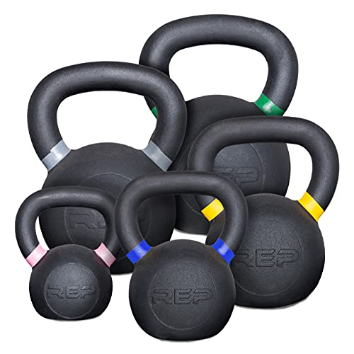 Rep 8 to 24 kg Kettlebell Set - 1 of Each (8, 12, 16, 20, 24 kg)