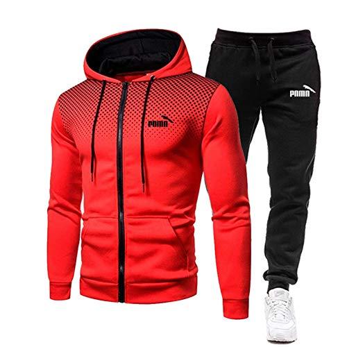 2021 - Juego de camiseta de baloncesto para hombre, con cremallera completa, sudadera con capucha, ropa deportiva-27-XXL